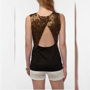 U.O. Silence+Noise Open Back Sequin Tank